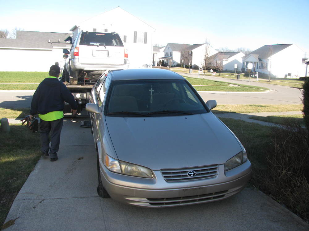 Car being donated.