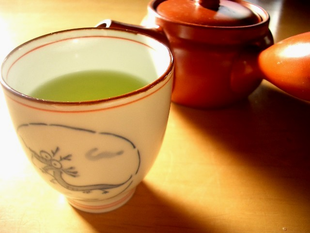 Morning cup of green tea 1