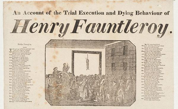 Henry Fauntleroy broadsheet