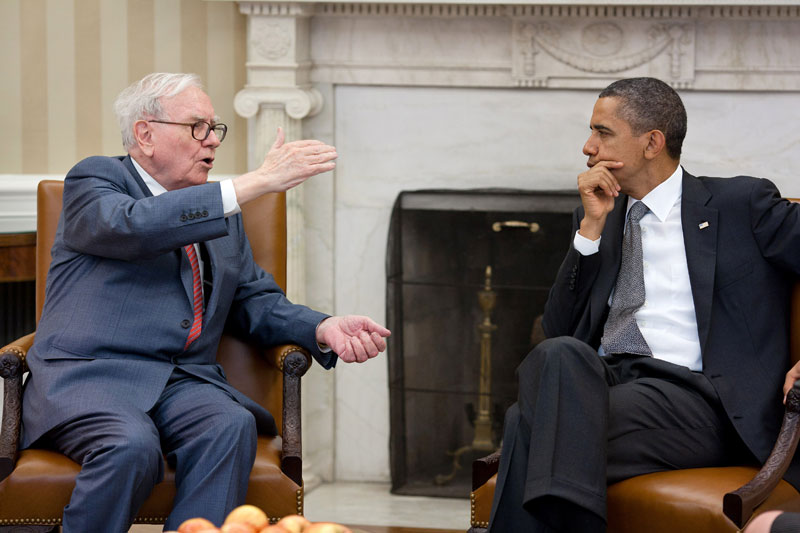Warren Buffet with President Obama.